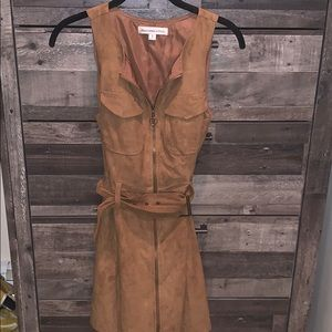 Suede belted dress from Abercrombie. Size S